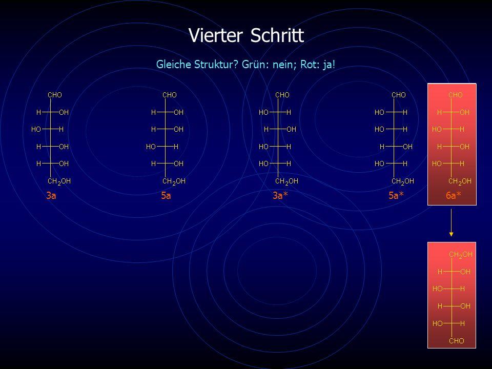 Vierter Schritt 3a5a6a* Gleiche Struktur Grün: nein; Rot: ja! 3a*5a*