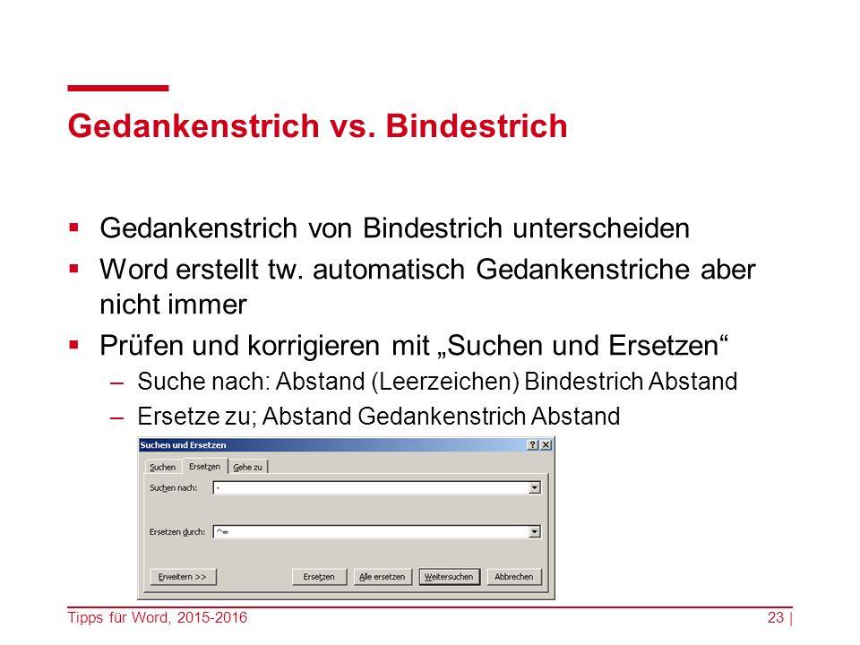 Gedankenstrich vs. Bindestrich  Gedankenstrich von Bindestrich unterscheiden  Word erstellt tw.