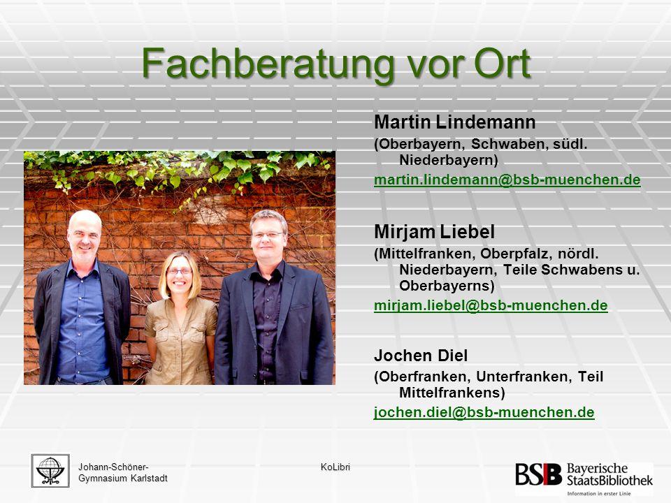 Fachberatung vor Ort Martin Lindemann (Oberbayern, Schwaben, südl.