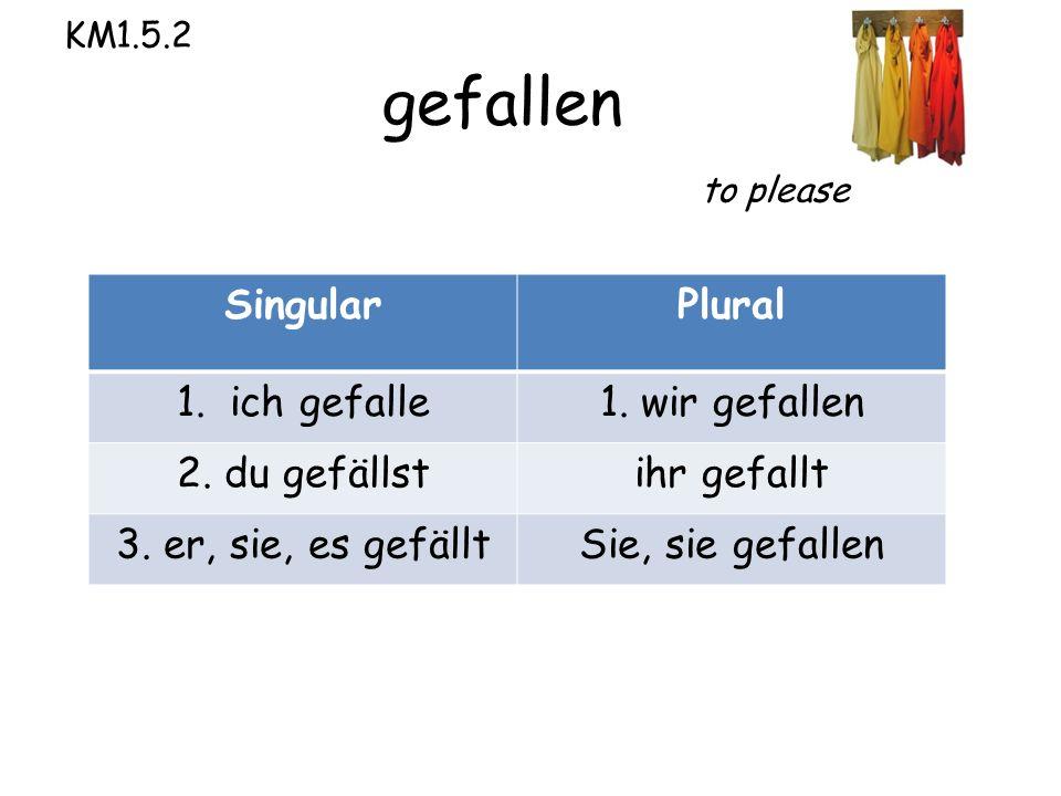 KM1.5.2 gefallen to please SingularPlural 1. ich gefalle1.