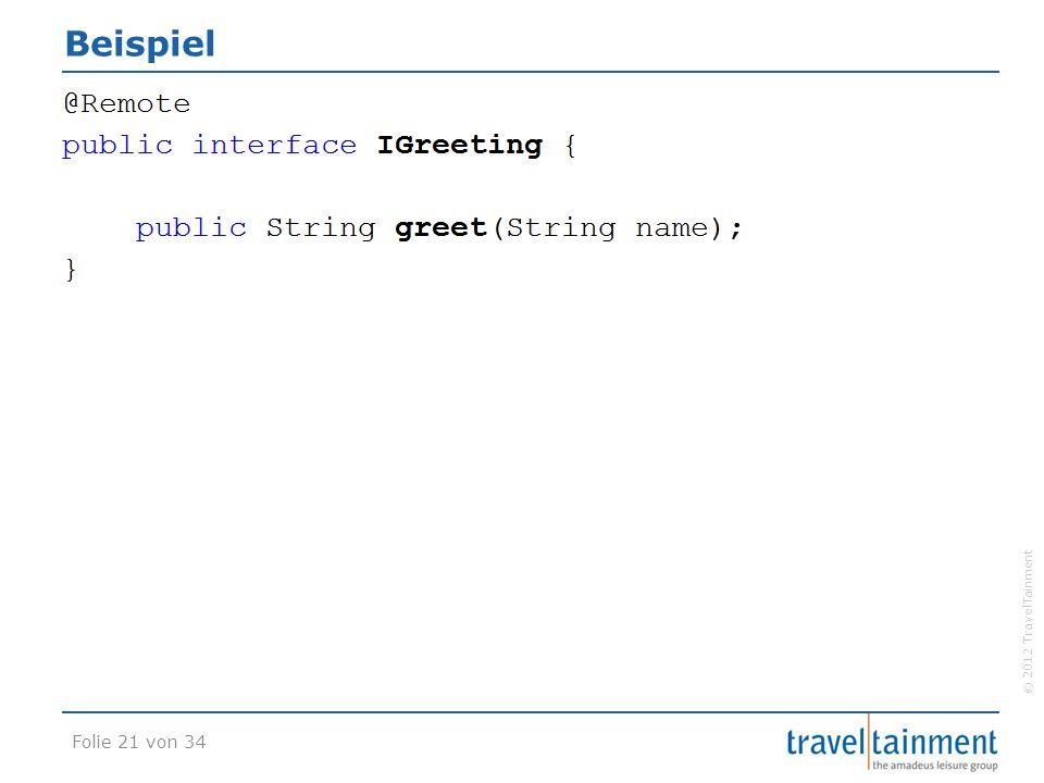 © 2012 TravelTainment Beispiel Folie 21 von 34
