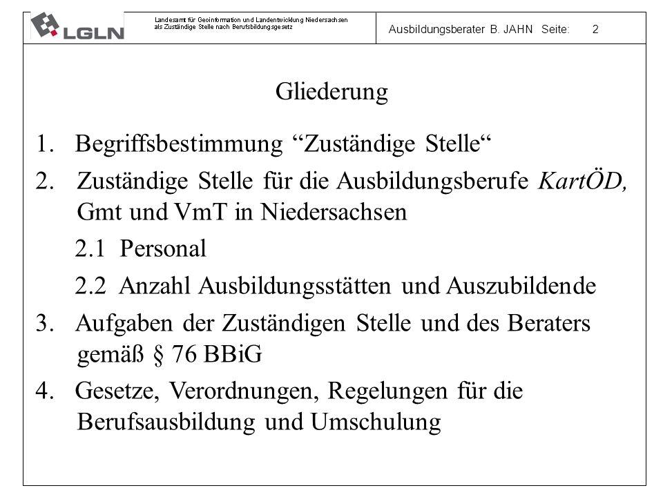 Ausbildungsberater B. JAHN Seite: 2 Gliederung 1.
