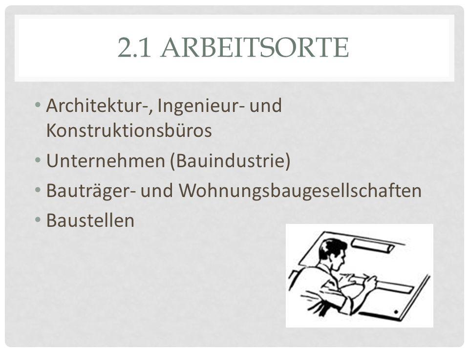 2. TÄTIGKEITEN Planen/ entwerfen Bauwerke Neubauten / Altbauten Wichtige Aspekte -Gestaltung -Technik -Wirtschaft -Funktionalität -Kundenvorstellungen