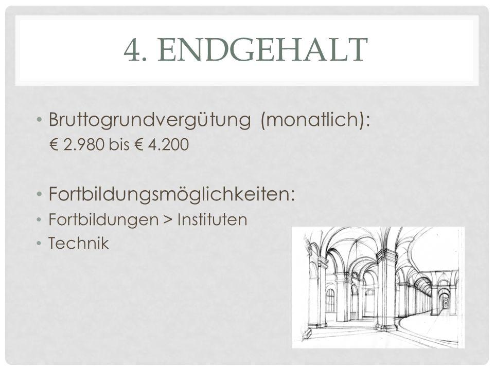 3. AUSBILDUNG Dauer: 3 Jahre duale Ausbildung (Berufsschule) > weiter zum Studium Ausbildungsgehalt: 1. Ausbildungsjahr: 400-700 Euro 2. Ausbildungsja