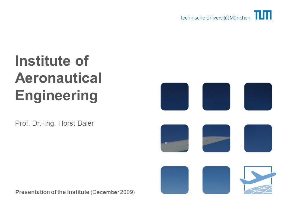 Technische Universität München Institute of Aeronautical Engineering Prof.