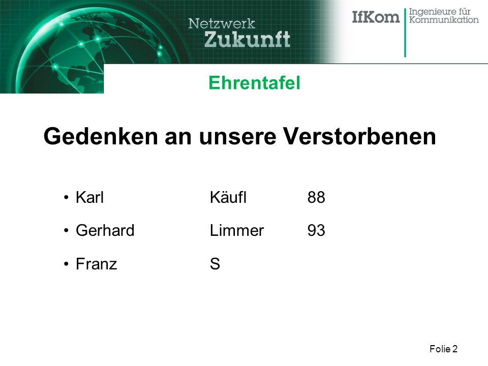 Folie 2 Ehrentafel Gedenken an unsere Verstorbenen KarlKäufl88 GerhardLimmer93 FranzS