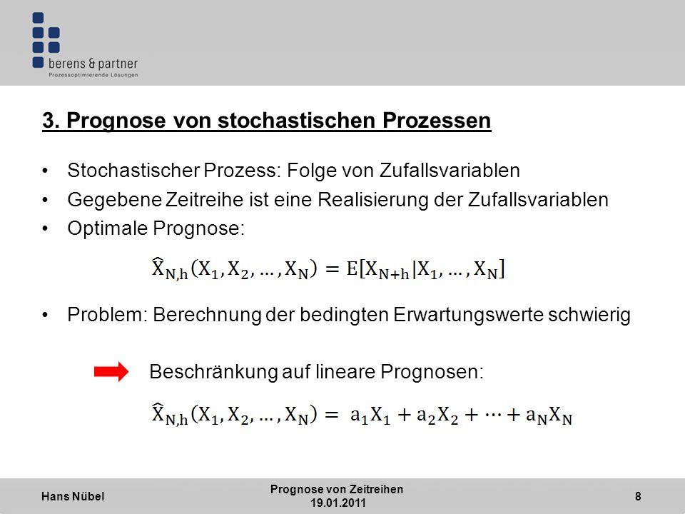 Hans Nübel Prognose von Zeitreihen 19.01.2011 8 3.