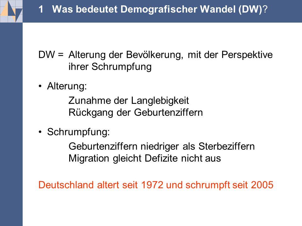 .... 1 Was bedeutet Demografischer Wandel (DW).