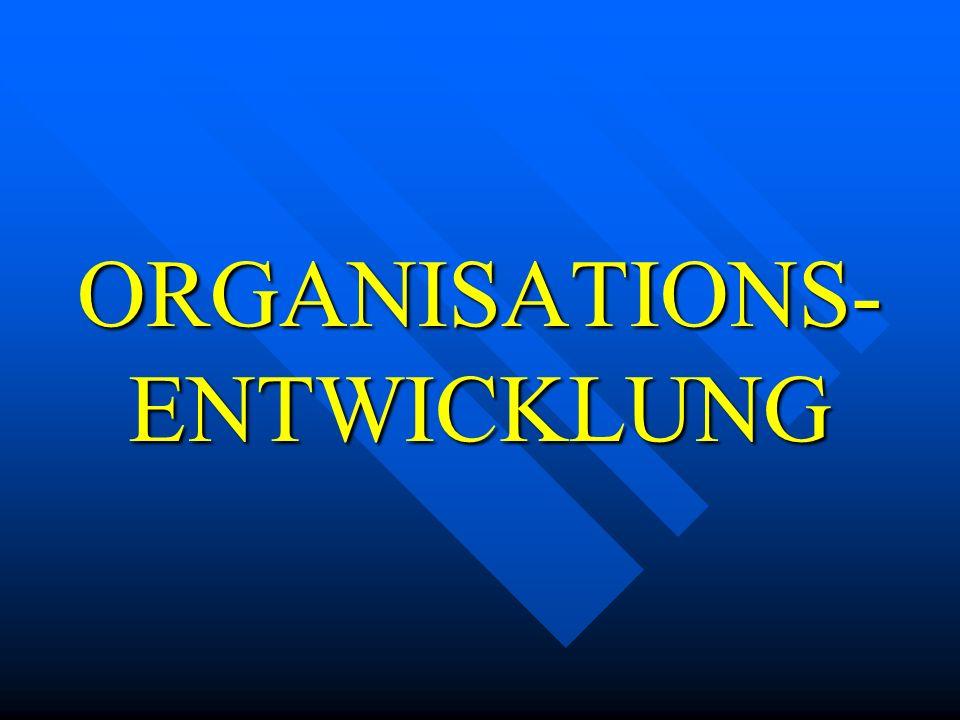 ORGANISATIONS- ENTWICKLUNG