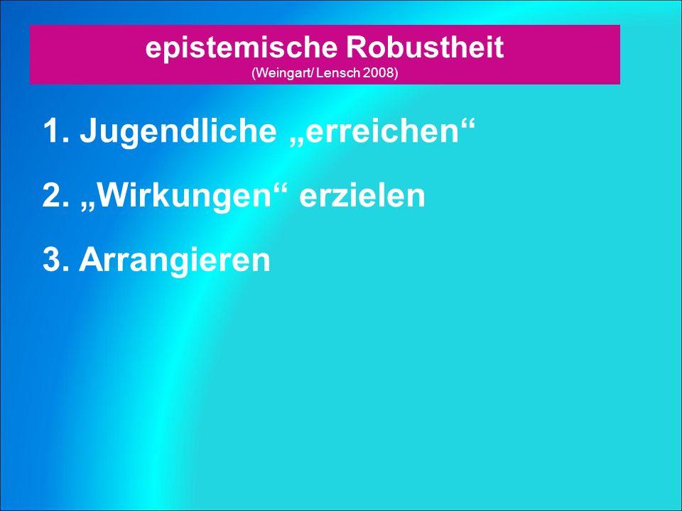 epistemische Robustheit (Weingart/ Lensch 2008) 1.