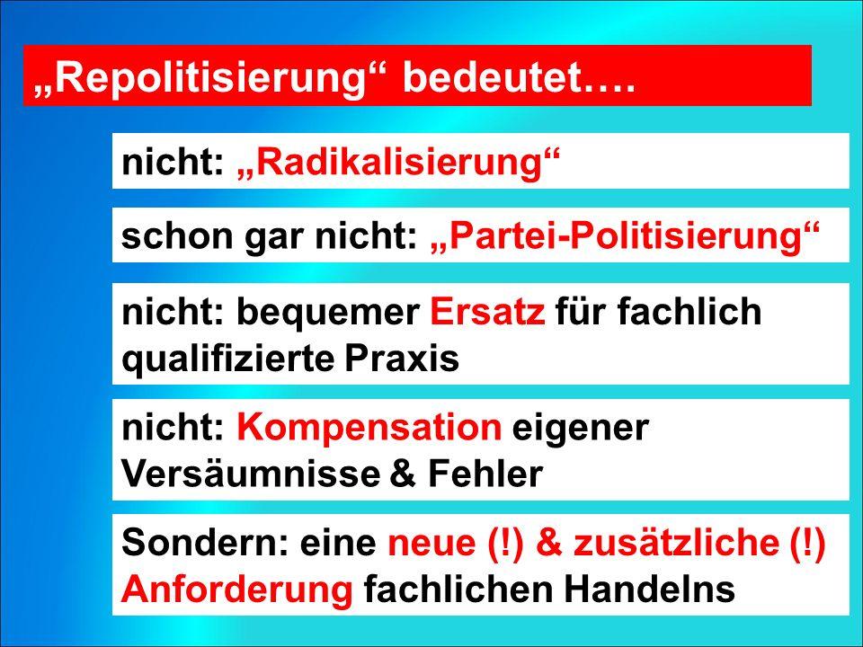 """Repolitisierung bedeutet…."