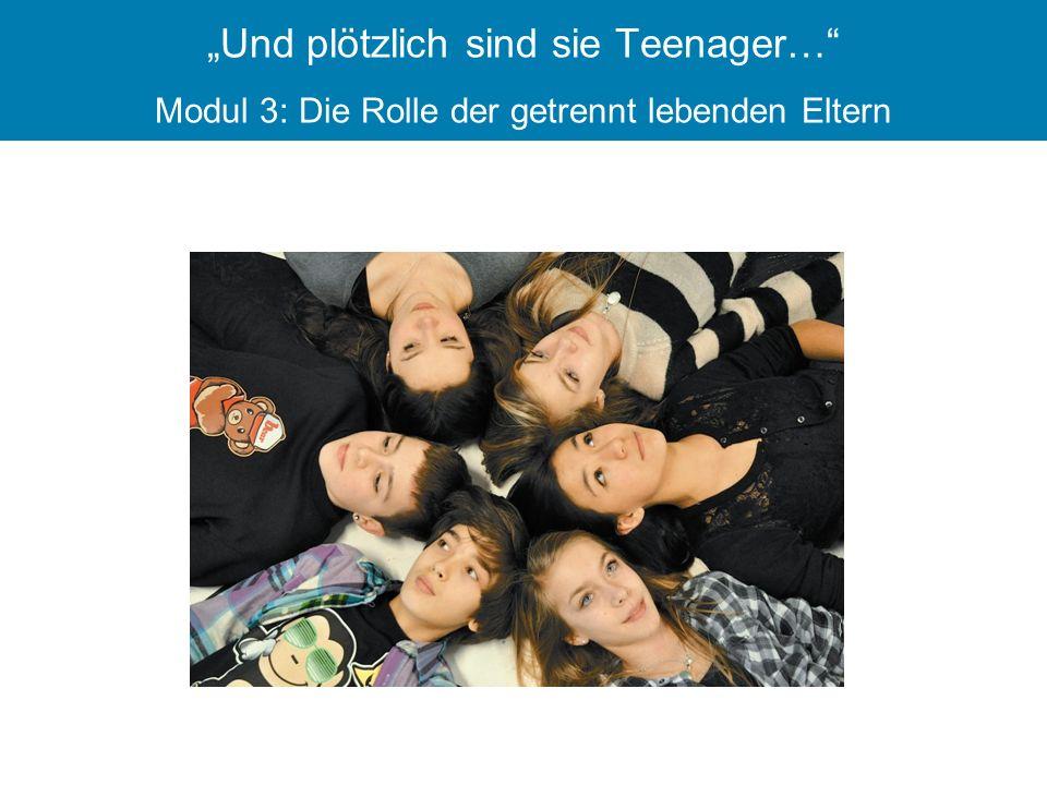 """""""Und plötzlich sind sie Teenager… Modul 3: Die Rolle der getrennt lebenden Eltern"""