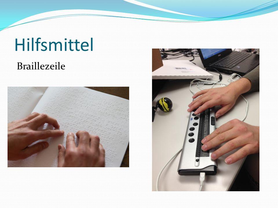 Hilfsmittel Braillezeile