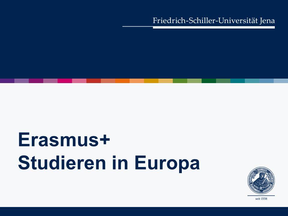 Erasmus+ Studieren in Europa