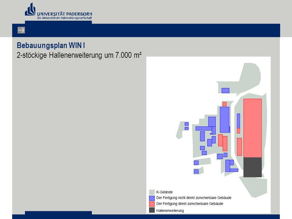 Bebauungsplan WIN I 2-stöckige Hallenerweiterung um 7.000 m²