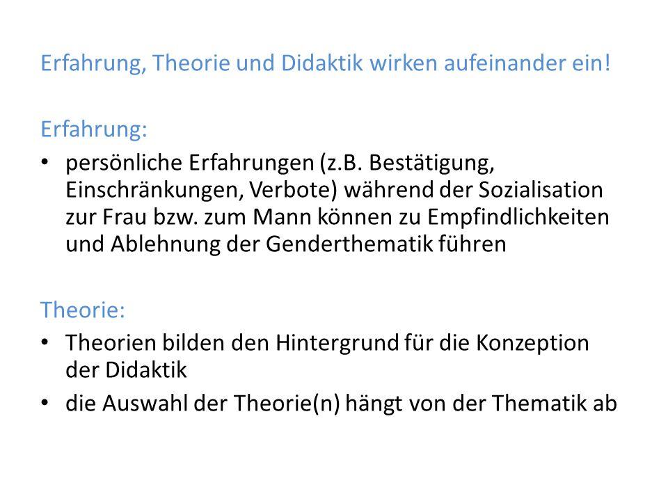 Erfahrung, Theorie und Didaktik wirken aufeinander ein.