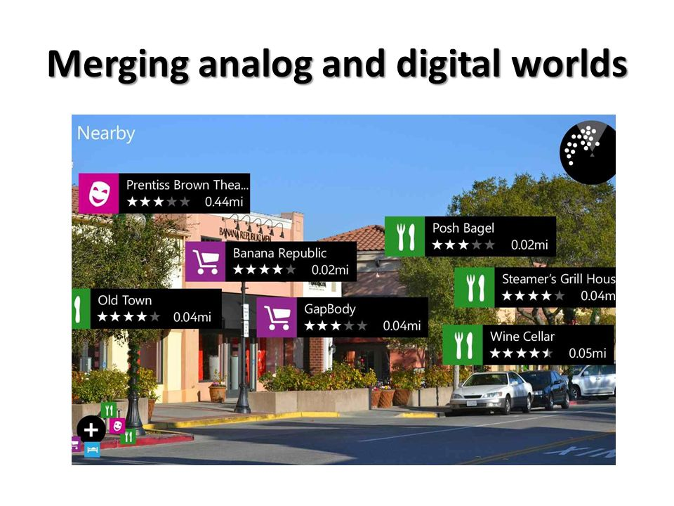 Merging analog and digital worlds