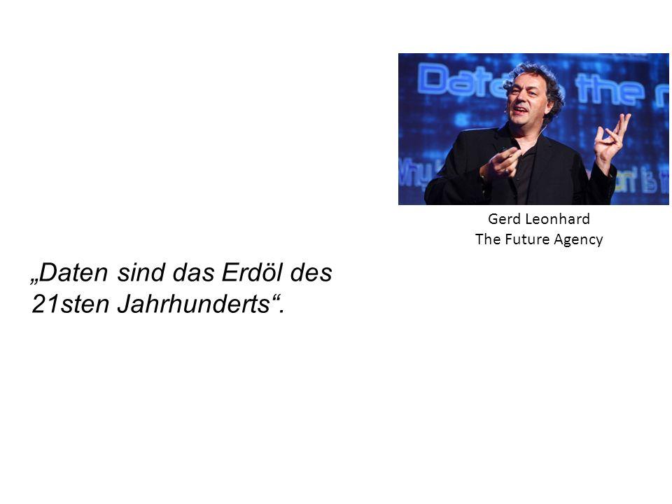 """""""Daten sind das Erdöl des 21sten Jahrhunderts"""". Gerd Leonhard The Future Agency"""