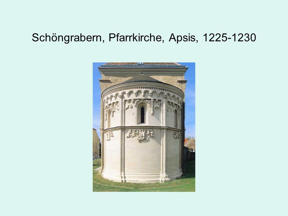 Schöngrabern, Pfarrkirche, Apsis, 1225-1230