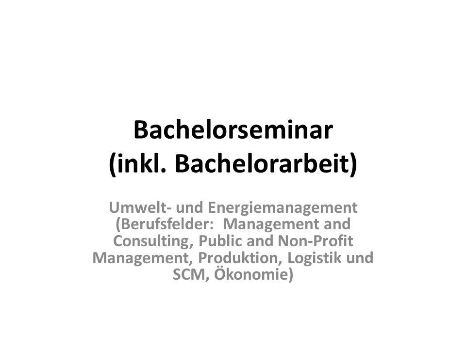 Bachelorseminar (inkl.