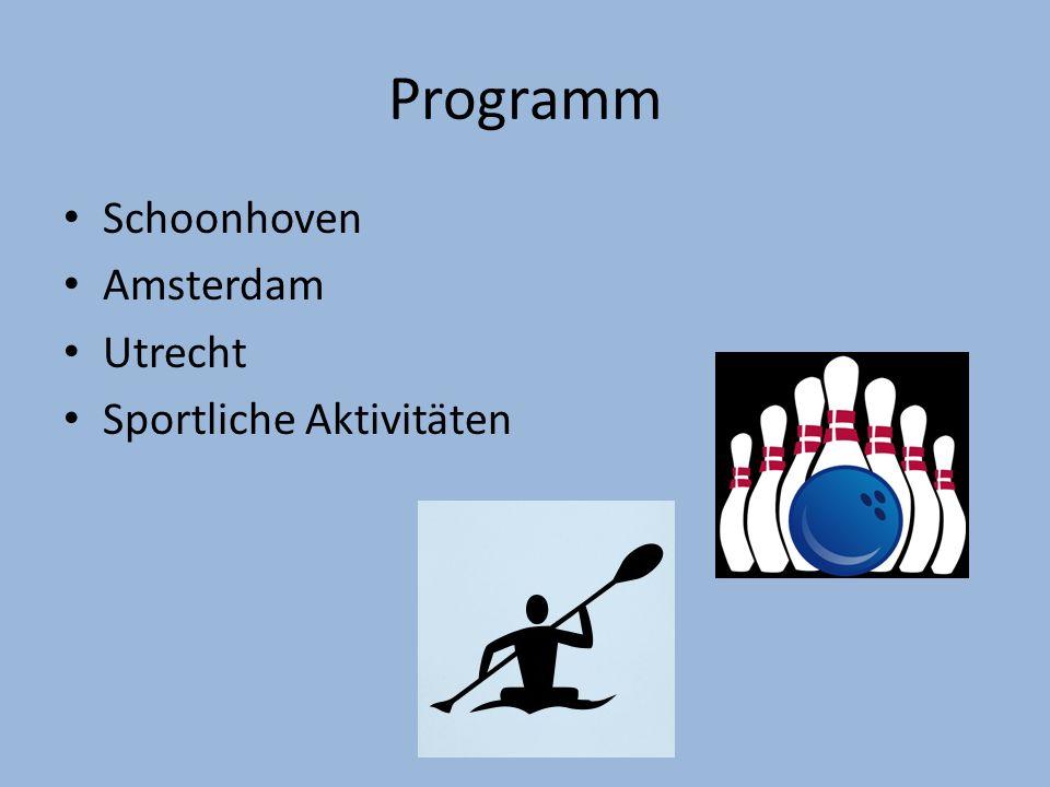 Programm Schoonhoven Amsterdam Utrecht Sportliche Aktivitäten