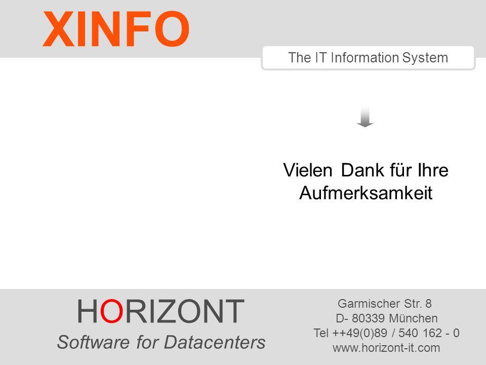 HORIZONT 42 Software für Rechenzentren Haben Sie noch Fragen? info@horizont-it.com XINFO Anwendungs entwicklung RZ-Betrieb Scheduling Systeme
