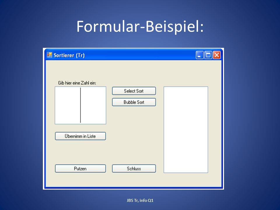 Formular-Beispiel: JBS Tr, info Q1