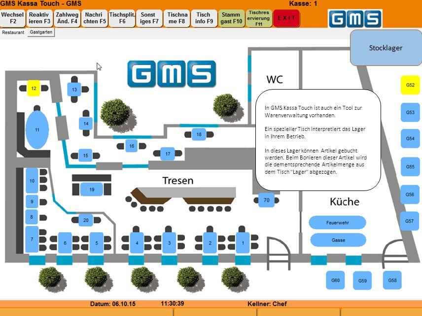 In GMS Kassa Touch ist auch ein Tool zur Warenverwaltung vorhanden.