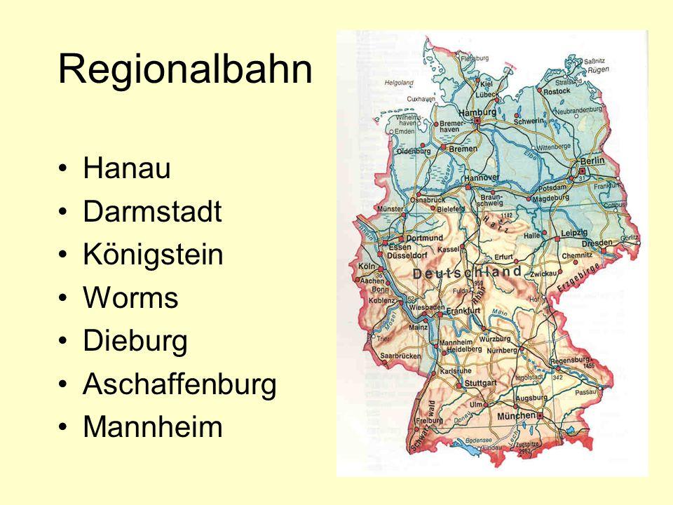 Regionalbahn Hanau Darmstadt Königstein Worms Dieburg Aschaffenburg Mannheim