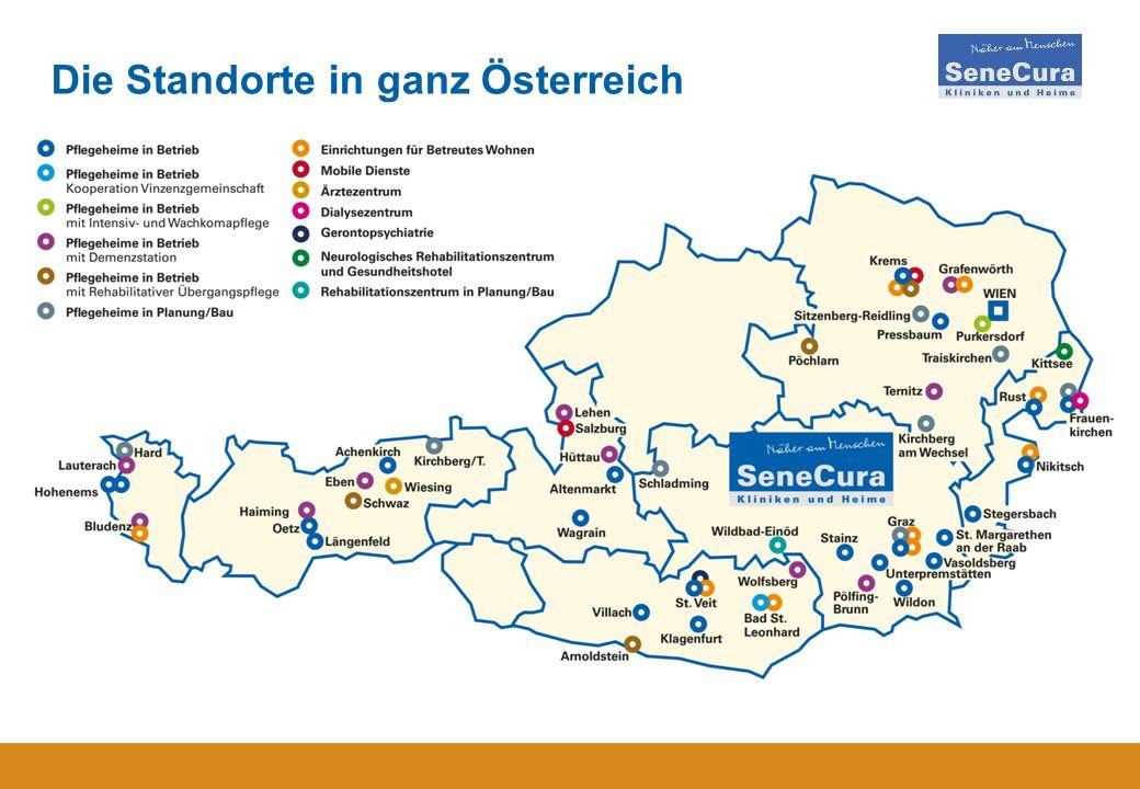 9 Die Standorte in ganz Österreich
