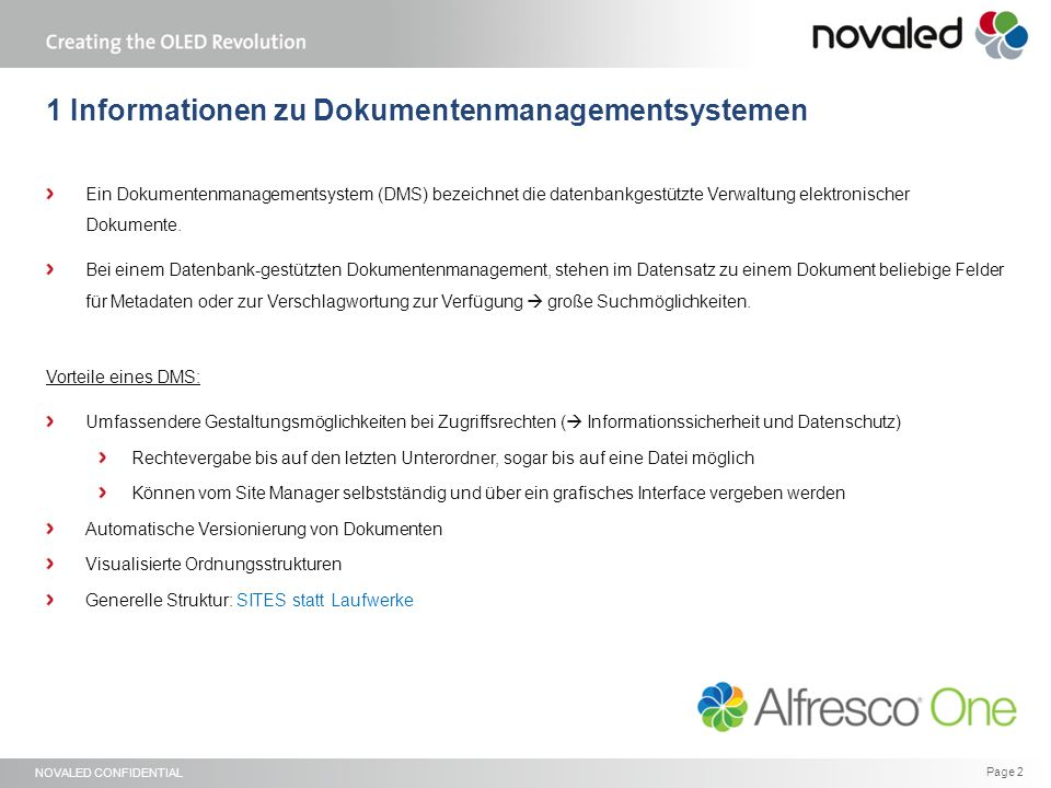 NOVALED CONFIDENTIAL Page 23 Novaled GmbH Tatzberg 49 01307 Dresden Germany Phone: +49 351 796580 Fax: +49 351 7965829 www.novaled.com Thank you for your attention!