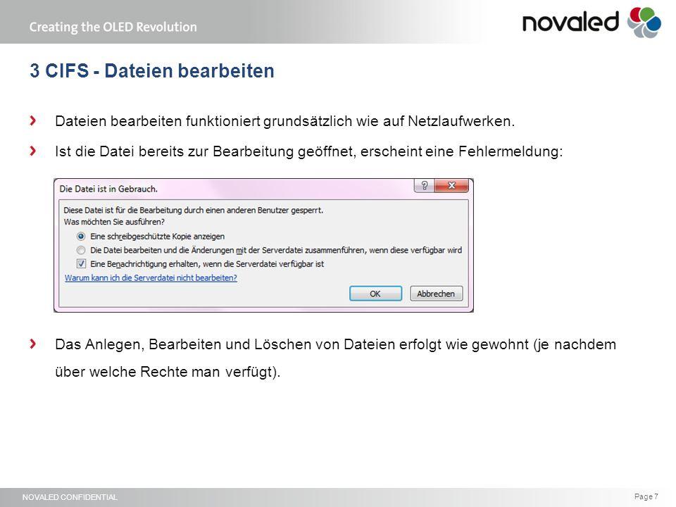 NOVALED CONFIDENTIAL Page 8 4 WebInterface – Home Nach der Anmeldung gelangt man immer zuerst auf das persönliche Dashboard.