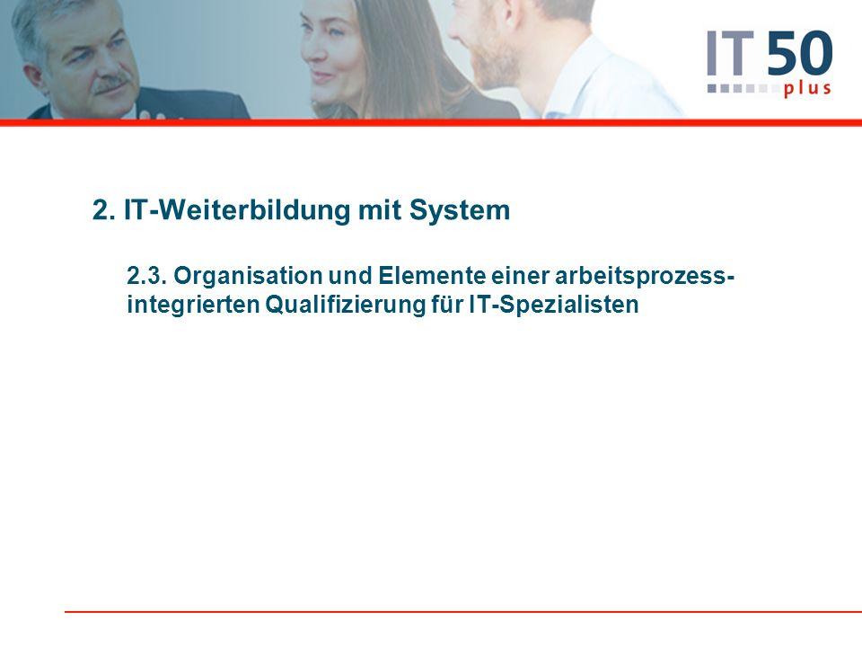 2. IT-Weiterbildung mit System 2.3.