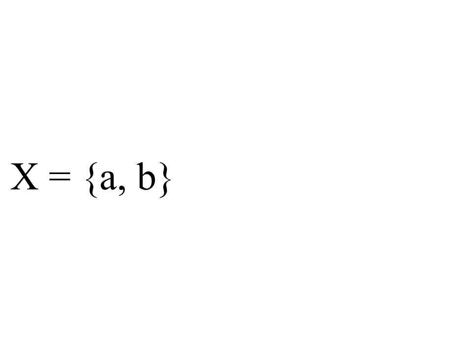 X = {a, b}