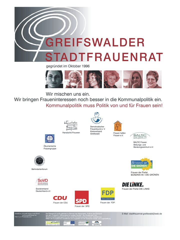 Frauen waren in Greifswald schon vor der Wende in der (Kommunal)Politik aktiv.