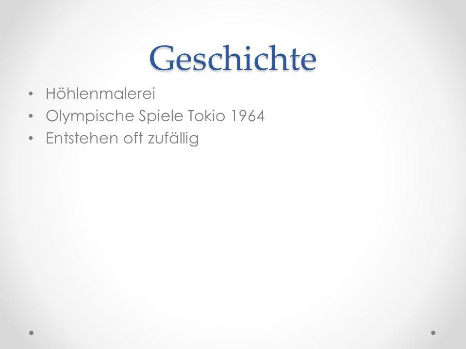 Geschichte Höhlenmalerei Olympische Spiele Tokio 1964 Entstehen oft zufällig