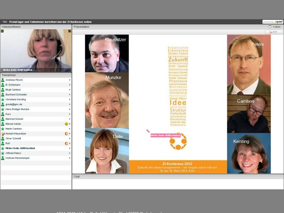 Klausnitzer Munzke Peters Cambeis Kersting Dolle ADM 2012 | Ulrike Dolle I Kilianstr.