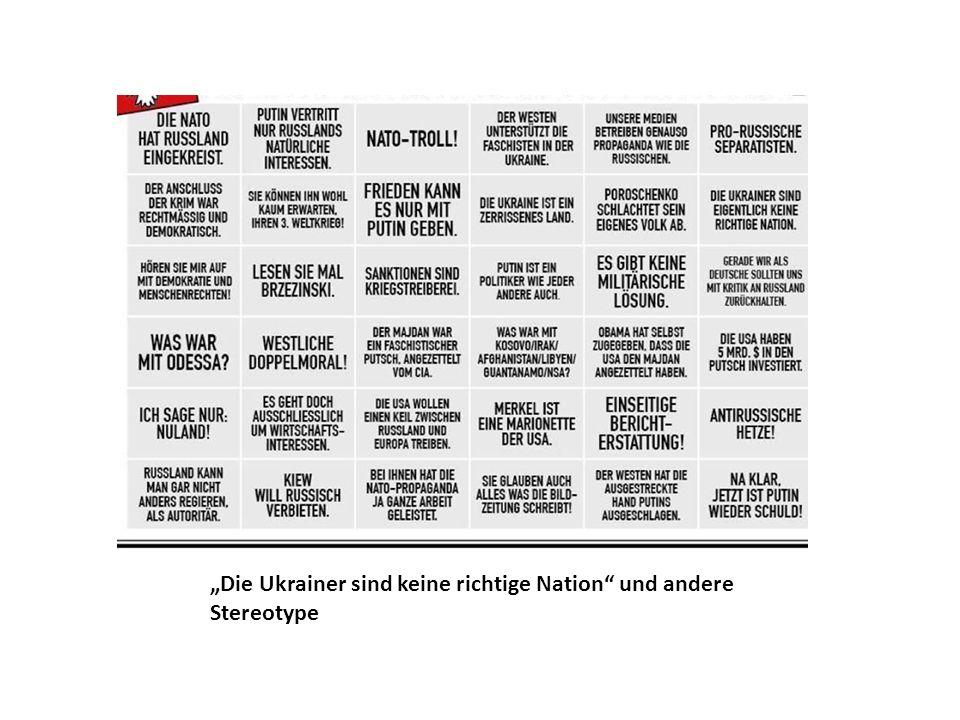 """""""Die Ukrainer sind keine richtige Nation und andere Stereotype"""