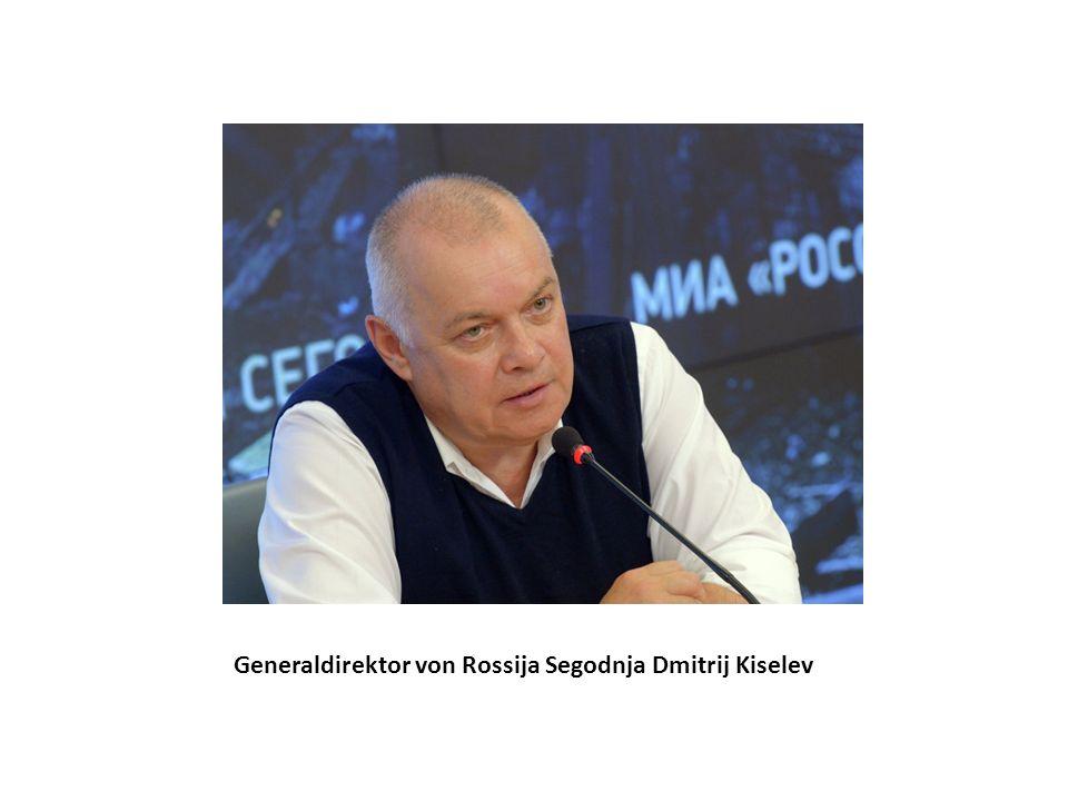 Generaldirektor von Rossija Segodnja Dmitrij Kiselev