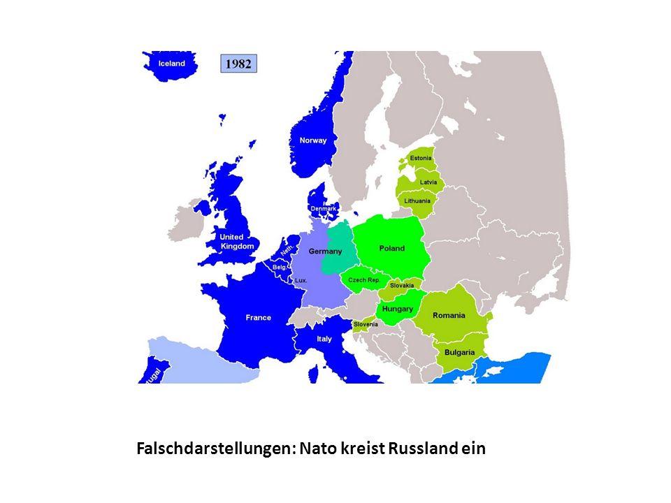 Falschdarstellungen: Nato kreist Russland ein