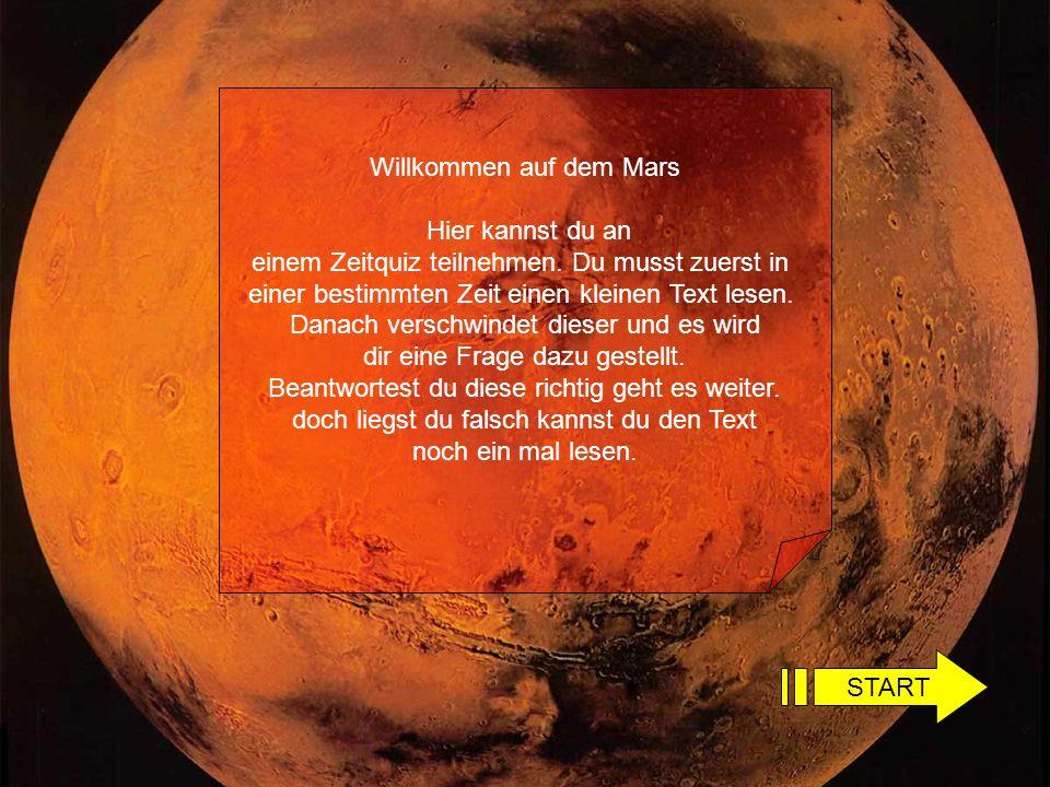 Willkommen auf dem Mars Hier kannst du an einem Zeitquiz teilnehmen.