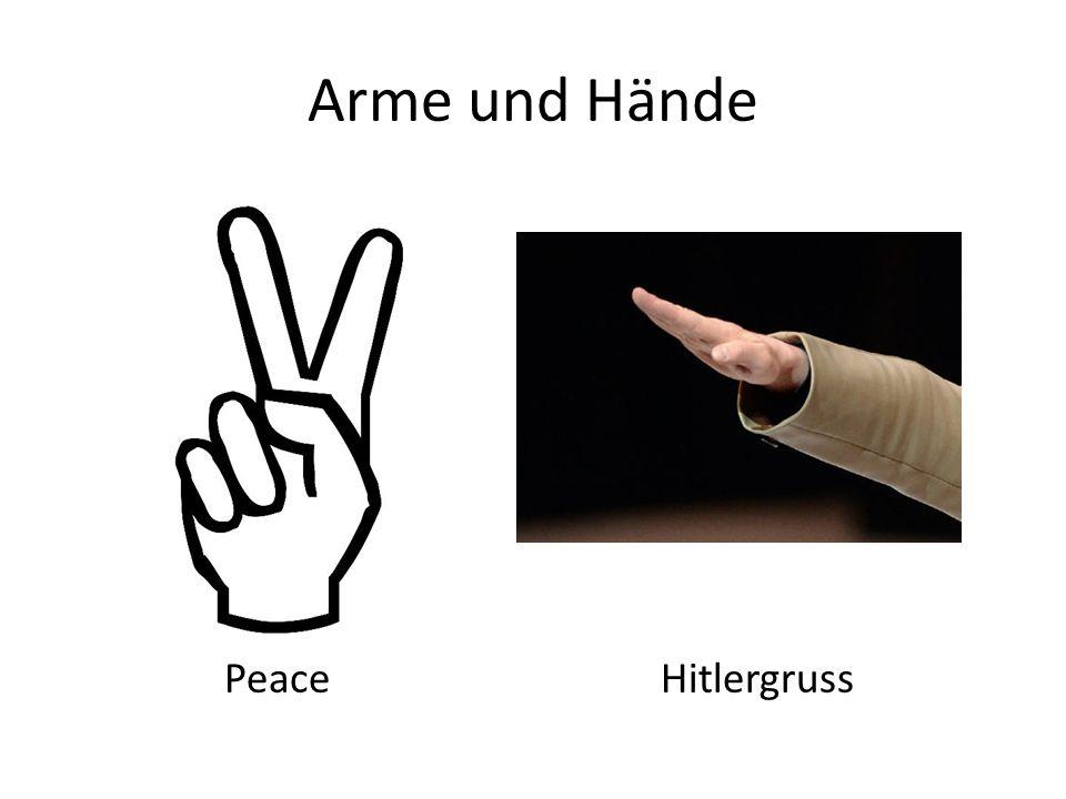 Arme und Hände Peace Hitlergruss