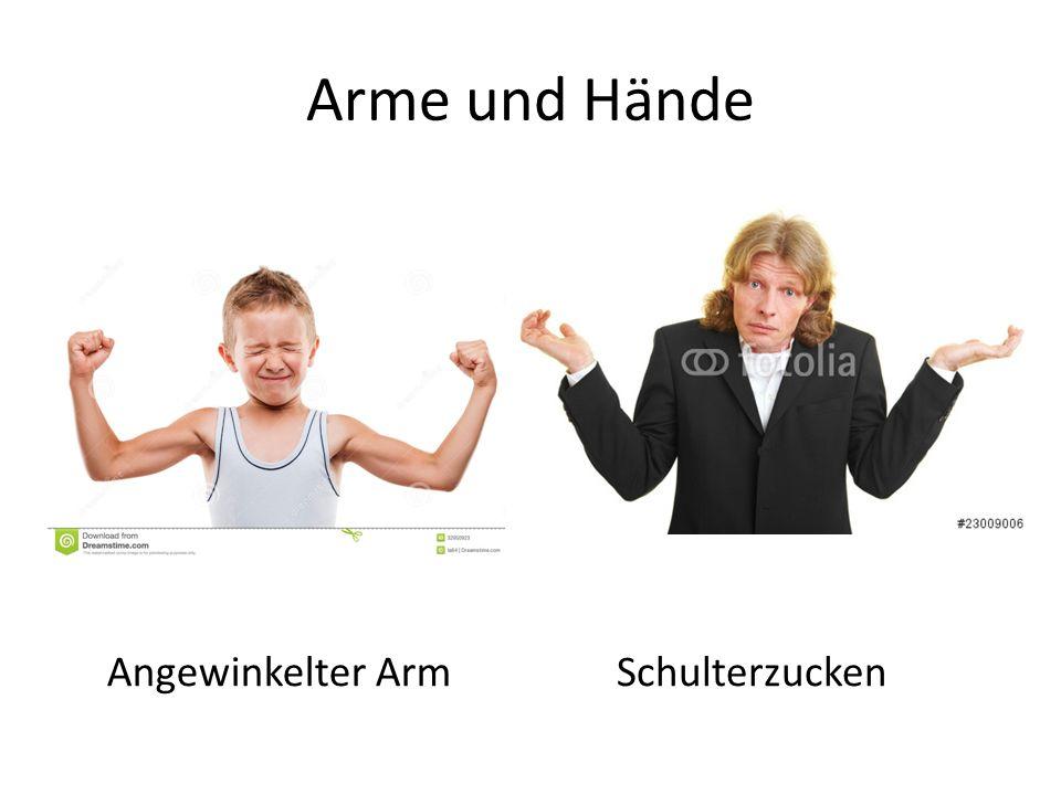 Arme und Hände Angewinkelter ArmSchulterzucken