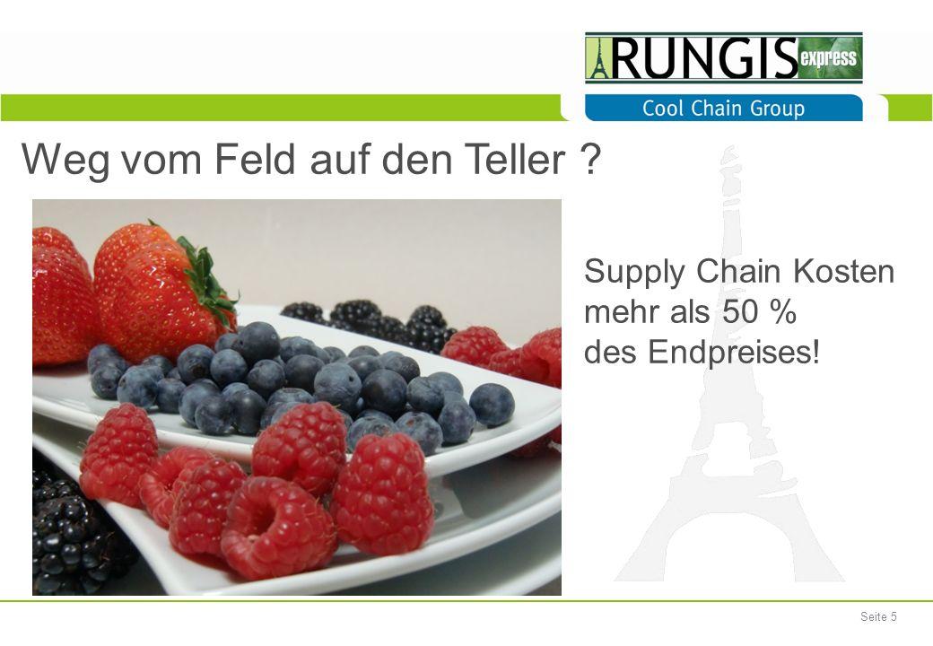 Seite 5 Weg vom Feld auf den Teller ? Supply Chain Kosten mehr als 50 % des Endpreises!
