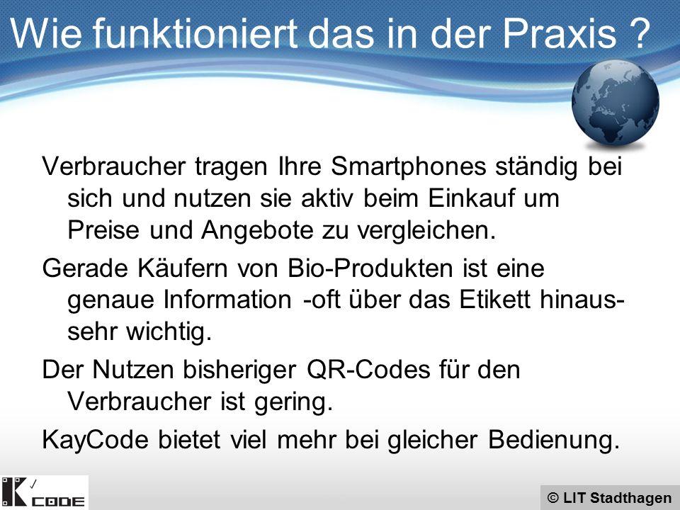 © LIT Stadthagen KayCode sieht aus wie ein QR-Code und wird mit den selben Smartphones gescannt.