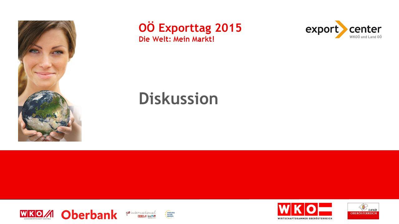 Diskussion OÖ Exporttag 2015 Die Welt: Mein Markt!