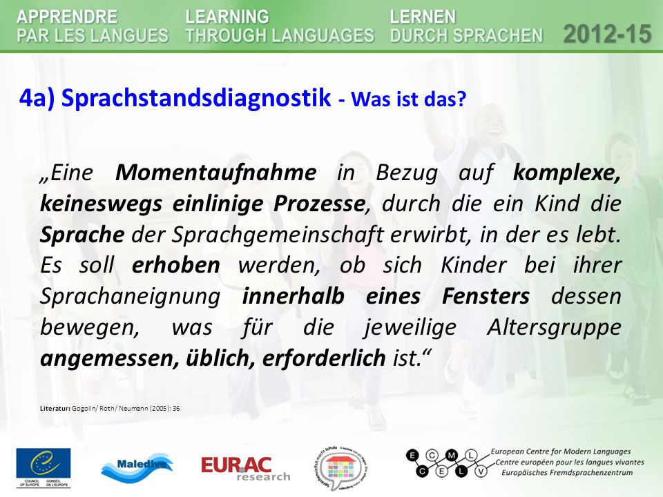 4a) Sprachstandsdiagnostik - Was ist das.