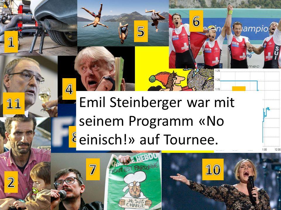 Emil Steinberger war mit seinem Programm «No einisch!» auf Tournee.