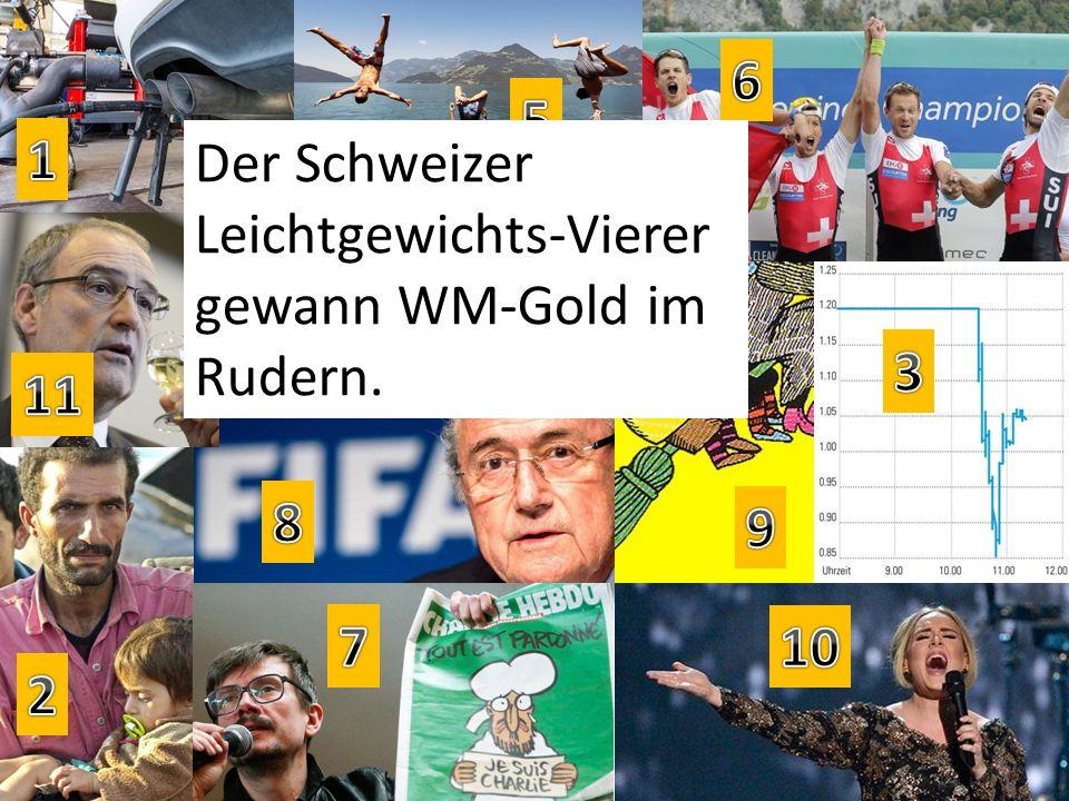 Der Schweizer Leichtgewichts-Vierer gewann WM-Gold im Rudern.