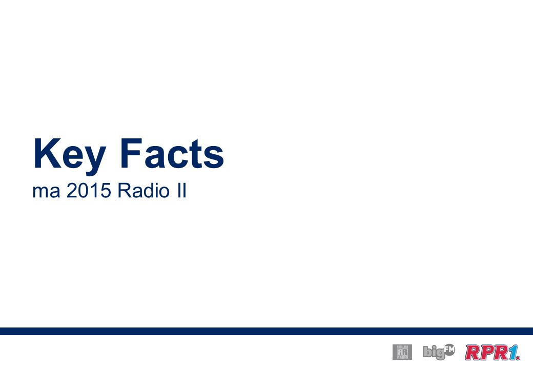 Key Facts ma 2015 Radio II
